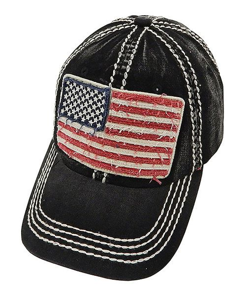 Look at this The Alabama Girl Black American Flag Baseball Cap on #zulily today!