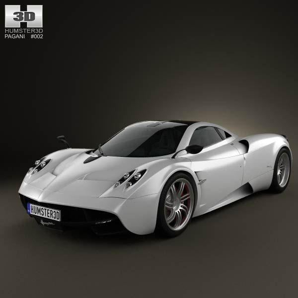 Pagani Huayra 2012 3d model from humster3d.com. Price: $75