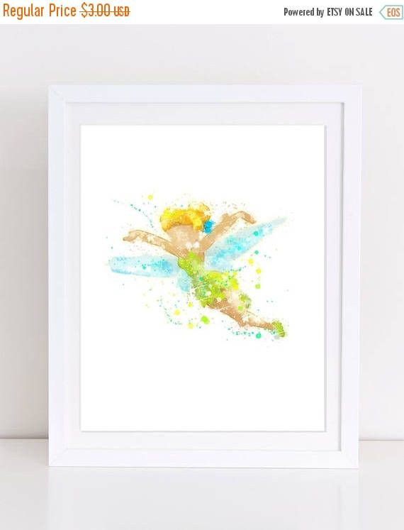 70%OFF Tinkerbell Printable poster watercolor tinkerbell