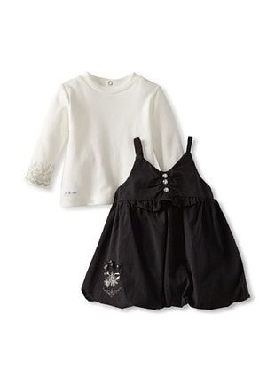 59% OFF Berlingot Baby Girl 2-Piece Set (Ecru/Grey)