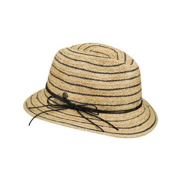 Women's Karen Kane Stripe Fedora ($48) ❤ liked on Polyvore featuring accessories, hats, black, sun hats, fedora hats, summer beach hats, summer straw hats, straw hat and beach hat