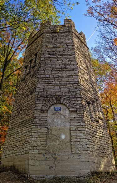The Witch's Tower (aka: Frankenstein Tower, Patterson 's Tower), Hills and Dales Park, Kettering, Ohio. Said to be haunted.