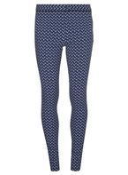 Womens **Tall Blue Zig Zag Bengaline trousers- Blue