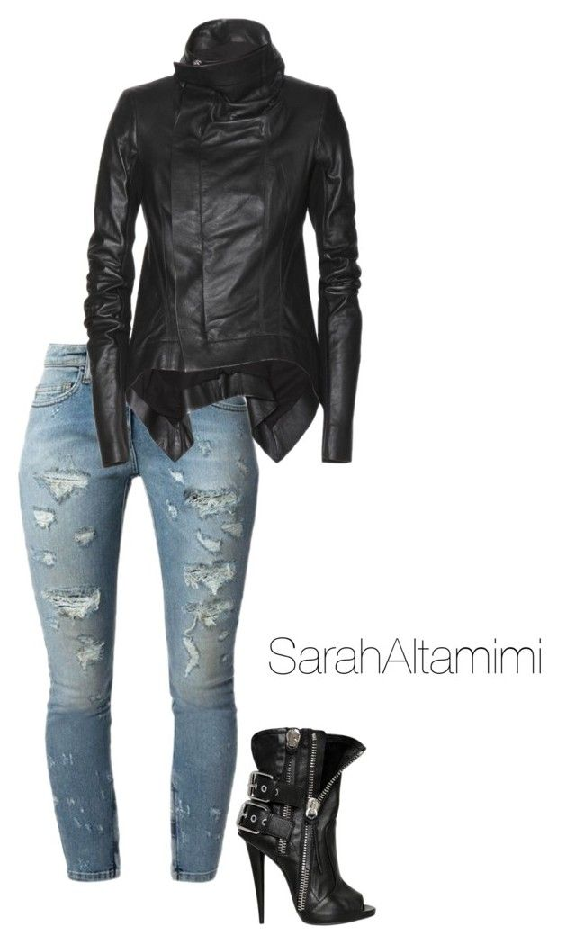 Untitled #81 by sarahaltamimi on Polyvore featuring polyvore, fashion, style, Rick Owens, Faith Connexion and Giuseppe Zanotti