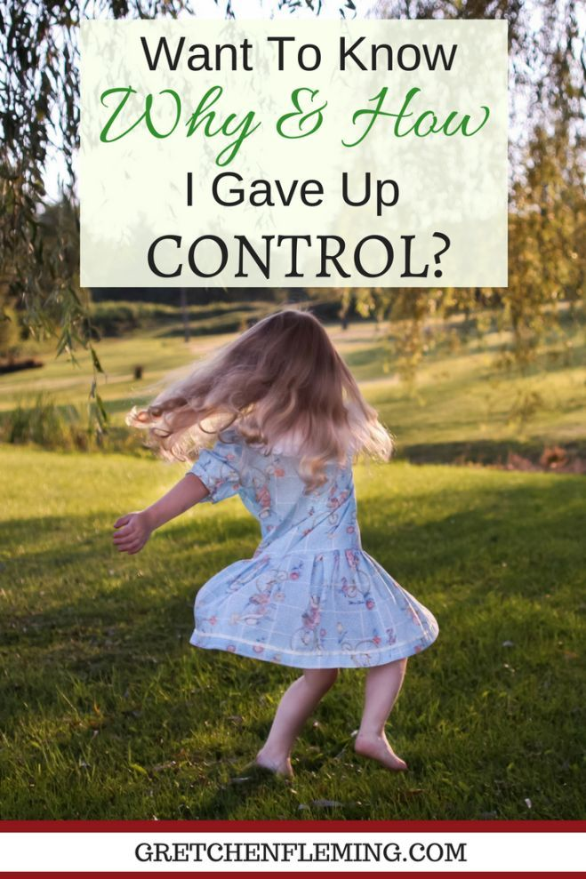 "Being in control. We all like to be in control of our lives, of our spouse's life, of our kids' lives, and of most everything around us. How can we learn to let go of control? How can we give up the controls? And, why should we give up control? Want To Know Why And How I Gave Up ""Control""? Why not drop by today to find out?"