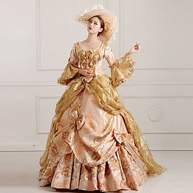 Steampunk®Georgian Gold Victorian Party Gown Marie Antoinette Wholesalelolita Rococo Princess Dress 4690263 2016 – $260.99