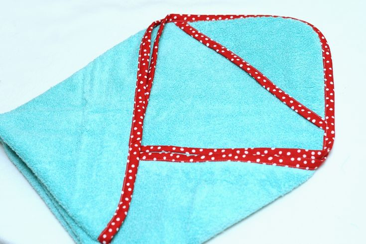Infant hooded towel tutorial by a crafty mommy
