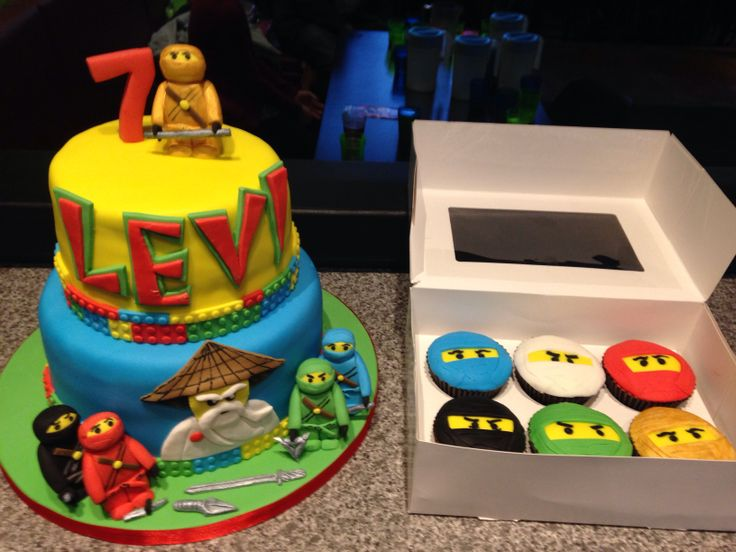 Levi's amazing Lego Ninjago cupcakes & birthday cake!