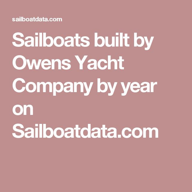 Sailboats built by Owens Yacht Company by year on Sailboatdata.com