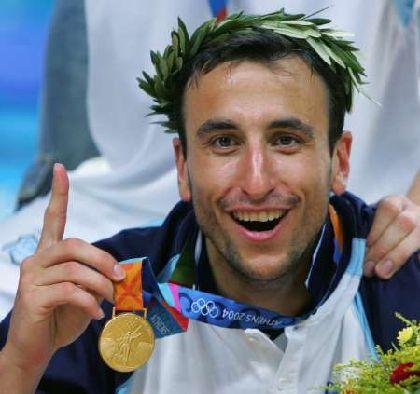 MANU GINOBILI, campeón olimpico en Atenas 2004. Grecia