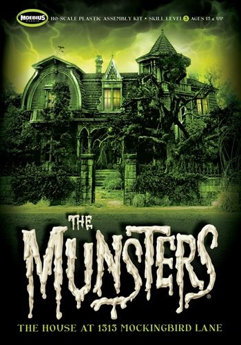 The Munsters House model kit. OMG I have to have this kit it looks amazing!!! <3