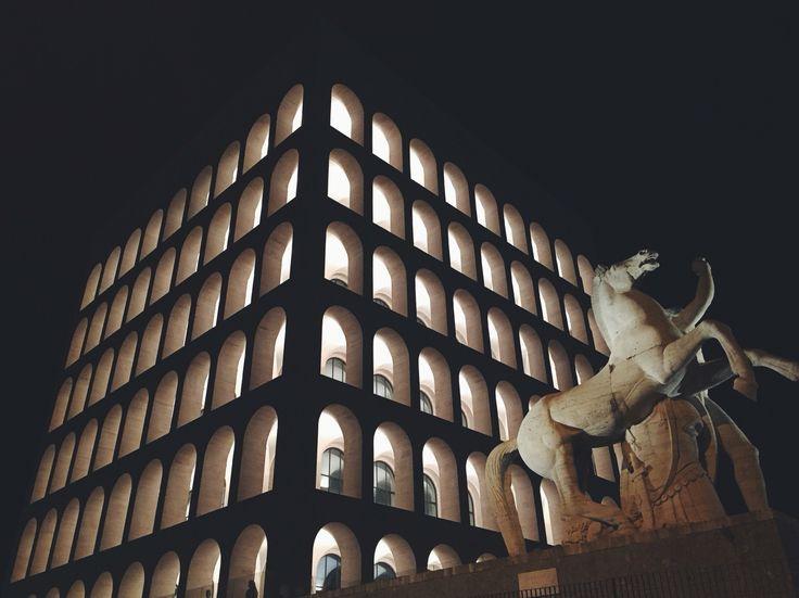 Square Colosseum, E.U.R., Rome, Italy