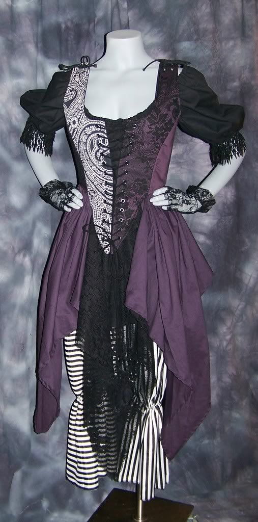 Wicked Renaissance Pirate Gown Dress costume by zachulascrypt, $200.00