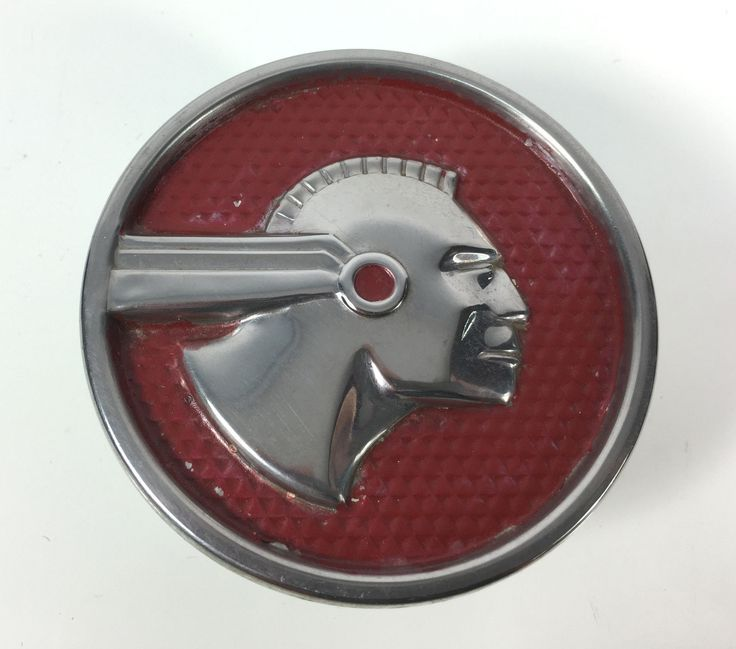 1951 52 53 Vintage Pontiac Indian Medallion Hood Ornament Rear Quarter Fender-Tap The link Now For More Inofrmation on Unlimited Roadside Assitance for Less Than $1 Per Day! Get Free Service for 1 Year.