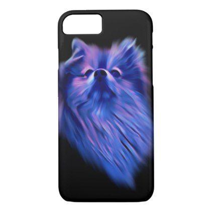 Blue Pomeranian iPhone 8/7 Case - animal gift ideas animals and pets diy customize