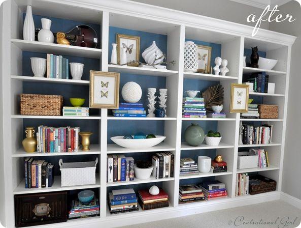 Best 25 blue back ideas on pinterest blue jean quilts for Ikea blue billy bookcase