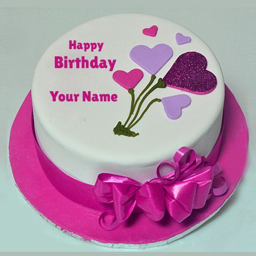 Edit Birthday Shining Glitter Decorated Cake With Your Name Print