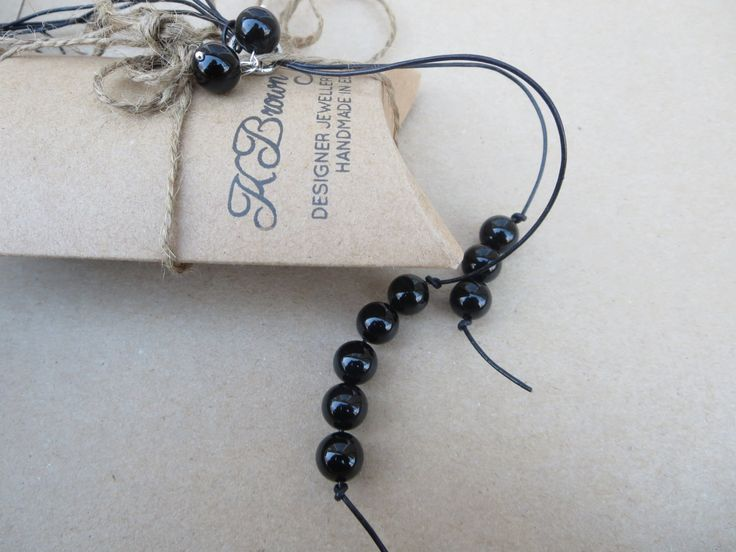 #christmaspresent #christmasgift Gemstone Lariat, Black Agate YNecklace, Handmade Gem Lariat, Edinburgh Jewellery Designer, Gemstones to Glamour Jewellery, KBrownJewellery by KBrownJewellery on Etsy