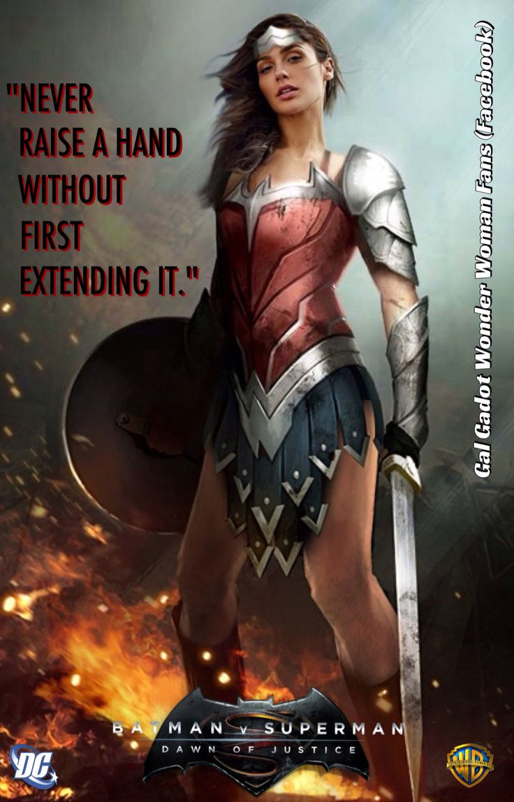Gal Gadot As Wonder Woman Manip Poster For Batman V