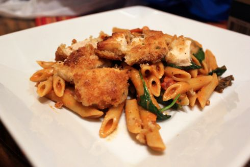 Noodles and Company Penne Rosa with Parmesan Crusted Chicken... need to try