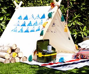 Fall Outdoor Party Idea: Glamping