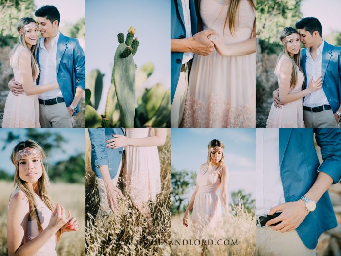 engagement session mallorca at sunset - beautiful lighting in the open fields