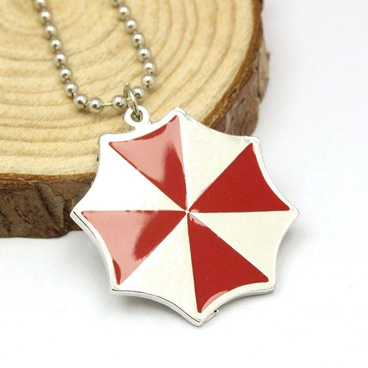 Resident Evil Красный Зонтик Мода Подвеска ожерелье Сплава Для Личности Мужчины И Женщины Подарок Ювелирные Изделия Кино Бесплатная Доставка