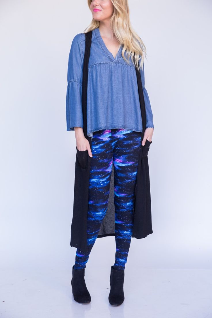 fashion & Dora - Outta This World Legging Large Space Galaxy Leggings Outfit Celestial Astronomy Geek Legging Outfits Agnes and Dora by Ayano #galaxy #fashion #space #trendy #legging
