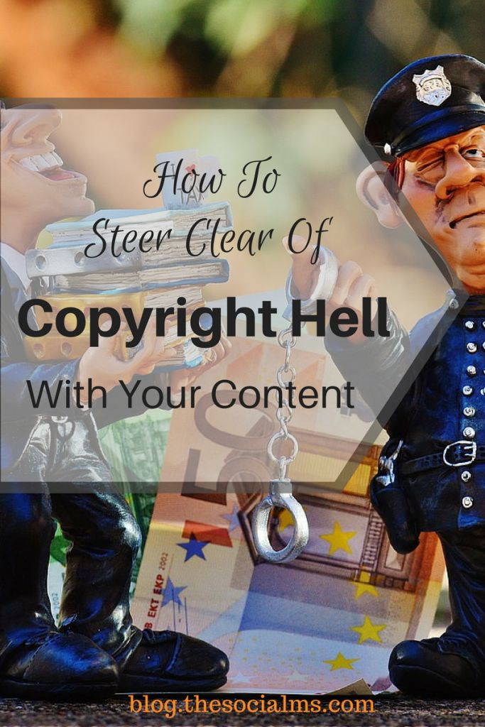 With the amount of content circulating on the web to be freely rehashed copyright infringement is a common problem. Here is how to avoid copyright hell. content creation, content marketing tips, copyright, content curation, create content