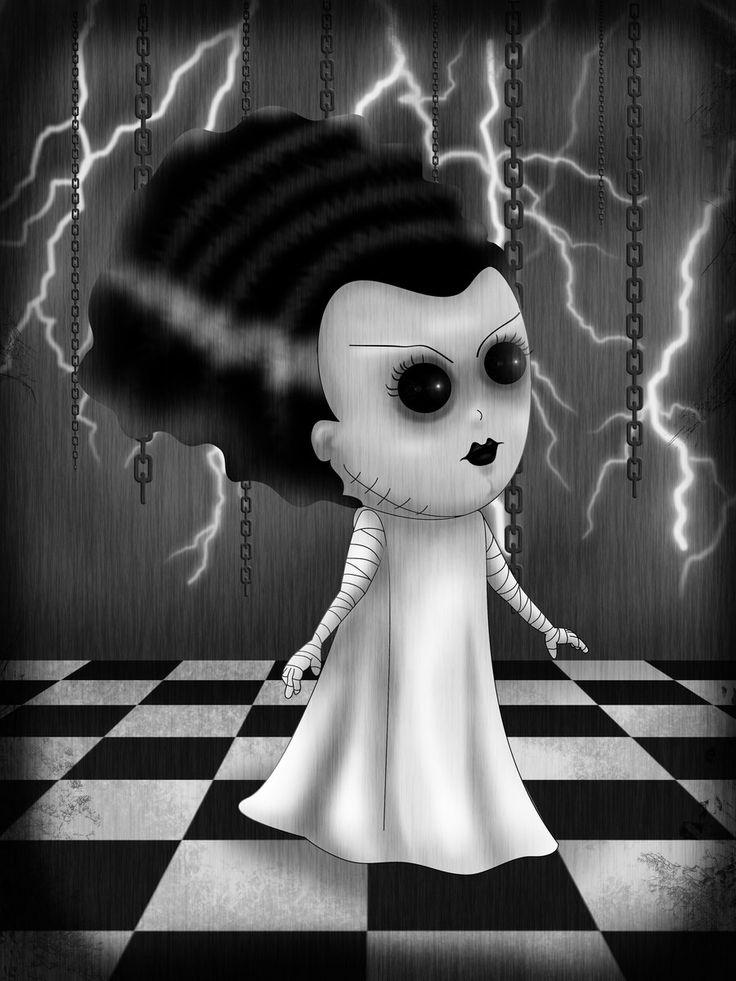 La Novia de Frankenstein by Lauramei.deviantart.com on @deviantART