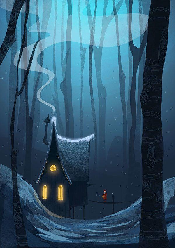 ArtStation - Snowy House , Ashley Wade