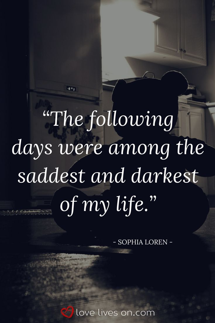 Miscarriage Quotes | Miscarriage Recovery. Sophia Loren shared this miscarriage quote about how she felt in the days following her miscarriage. Click to read 50+ more miscarriage quotes shared by celebrities to help others through miscarriage recovery.