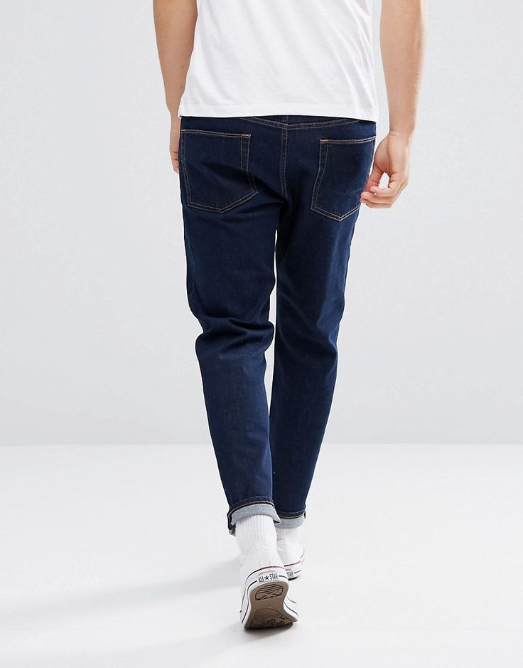ASOS Tapered Jeans In Indigo - Blue