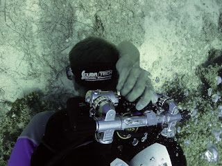 technical diver practices shut downs on a technical diving course in cyprus