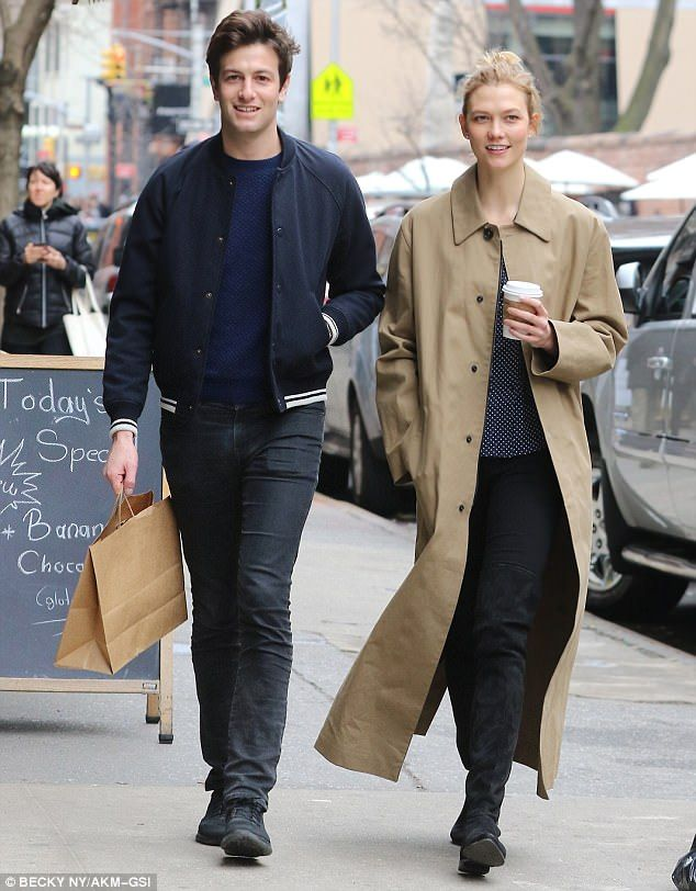 Having a great day:Karlie's latest appearance comes after a comparatively relaxed outing with boyfriend Joshua on Sunday