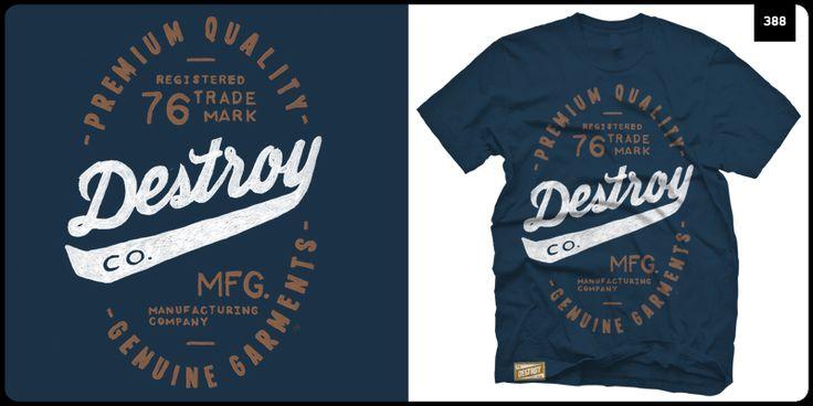 """""""Destroy Co. """" t-shirt design by CAP.388"""