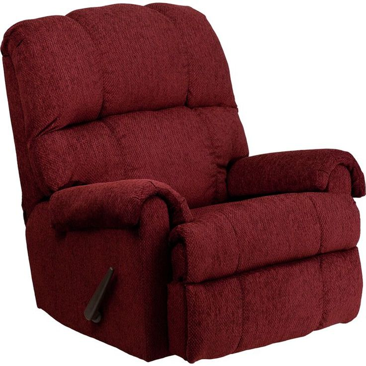 Flash Furniture Contemporary Tahoe Bark Chenille Rocker Recliner Chair (B  sc 1 st  Pinterest : red cloth recliners - islam-shia.org