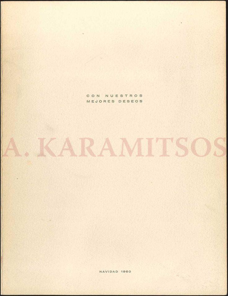 """PABLO PICASSO. Christmas card """"con nuestros mejores deseos, Navidad 1960"""". (best wishes, Christmas 1960)."""