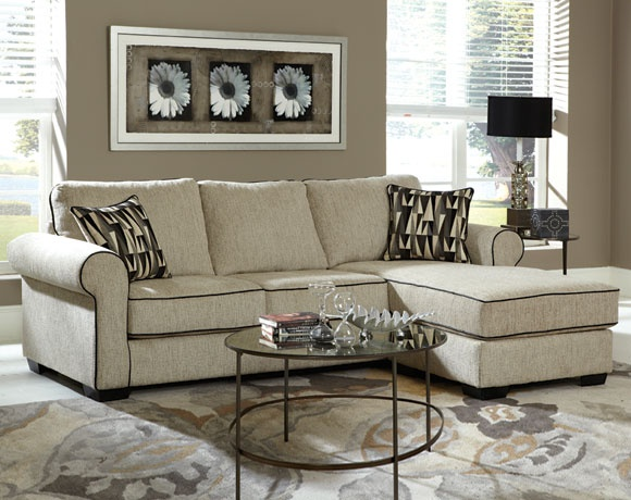 Radar Cream 2 PC Sectional Sofa | Living Rooms | American Freight Furniture