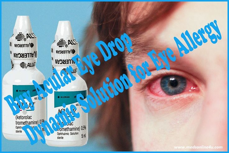 Do you are suffering from eye allergy? Acular eye drop is an ultimate malady for treating eye allergy and inflammation caused by cataract surgery. Buy Ketorolac eye drop, NSAIDs, which overcome the eye allergy symptoms like itching, burning, redness by inhibiting the release of prostaglandin that is responsible for causing inflammation and pain. So don't wait any more place an online order to get Acular eye drop online at your doorway.