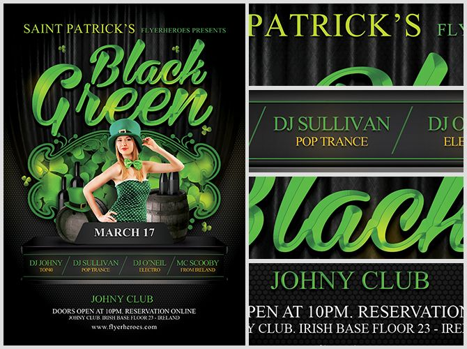 16 best green images on Pinterest Party flyer, Flyer template - emerald flyer template