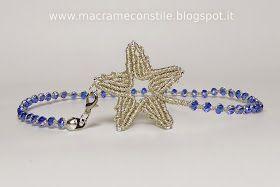MACRAME MARGARETENSPITZE stella argento collana