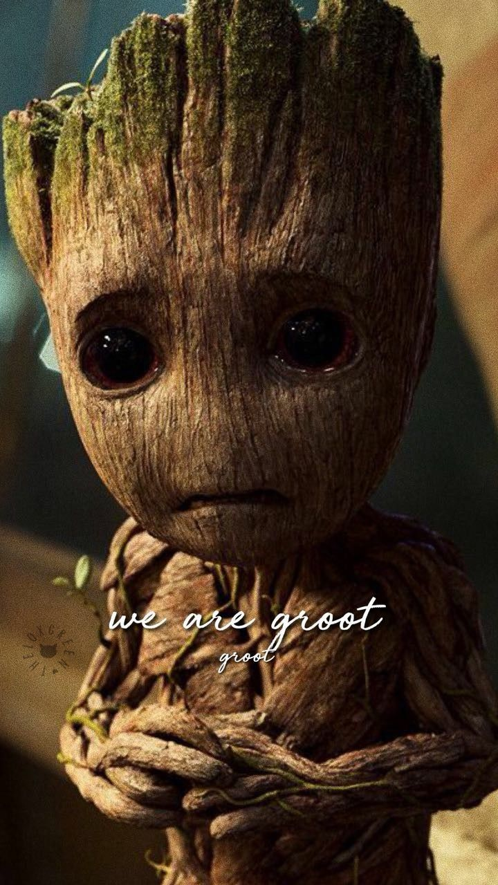 Lockscreen Groot Guardioes Da Galaxia Marvel With Images Groot