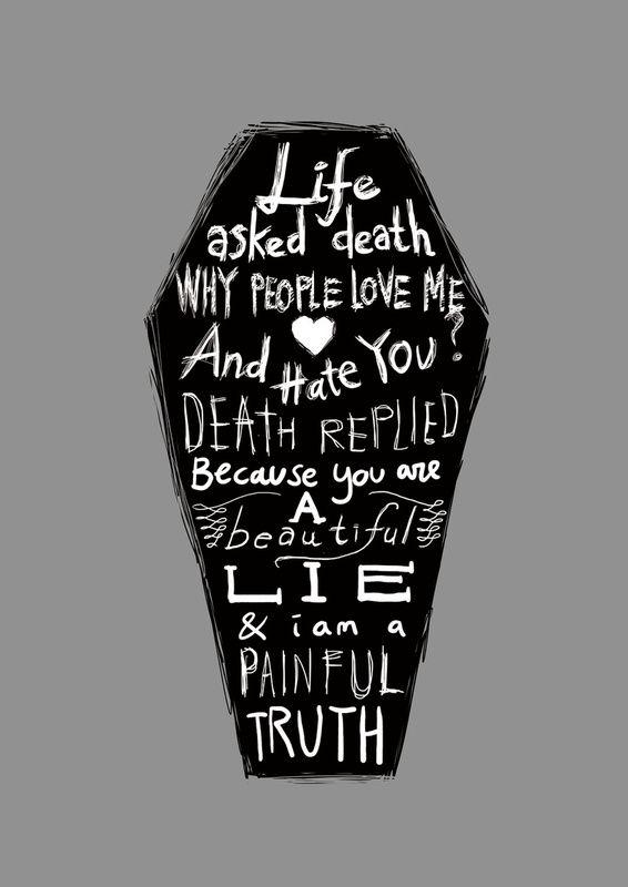 Life asked death tattoo