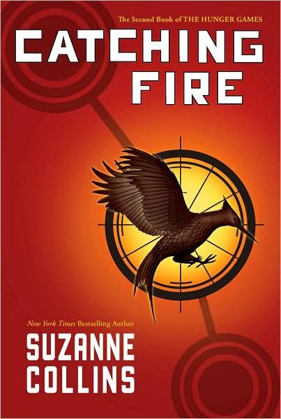 Catching Fire. Second book from the Hunger Games.