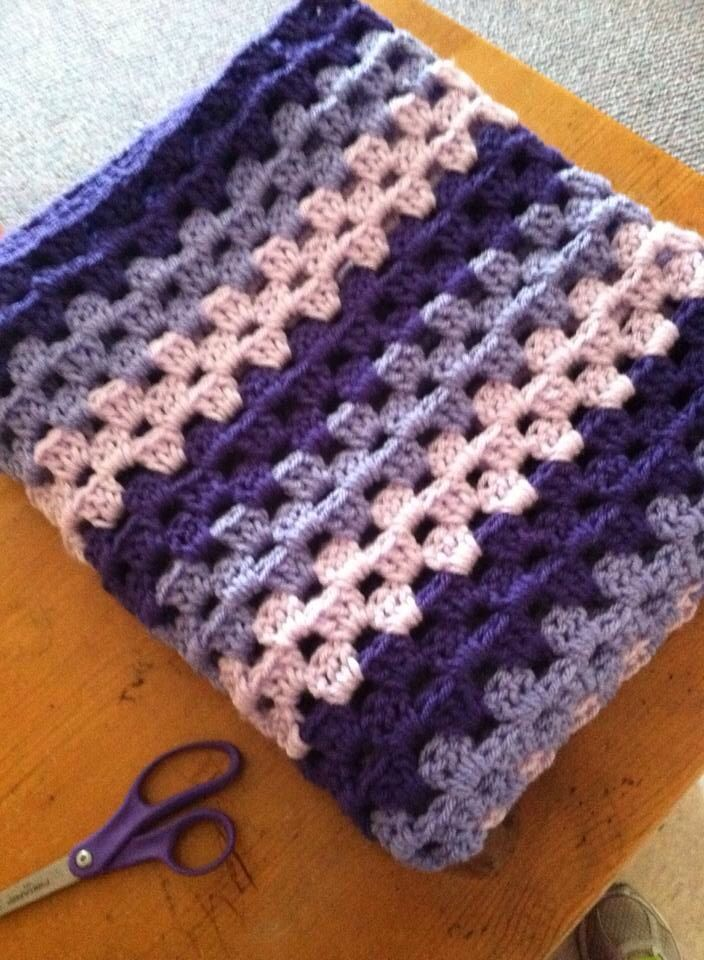 Crochet Pattern For Granny Stripe Baby Blanket : 235 best images about mycrochet granny stripes on ...