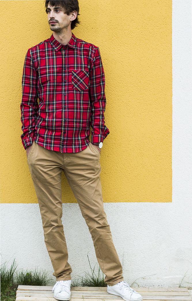Chemise Cliff, La maison Victor Pantalon Zara Chaussures Stan Smith Montre Daniel Wellington