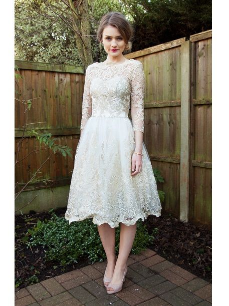 Cheap courthouse short wedding dresses