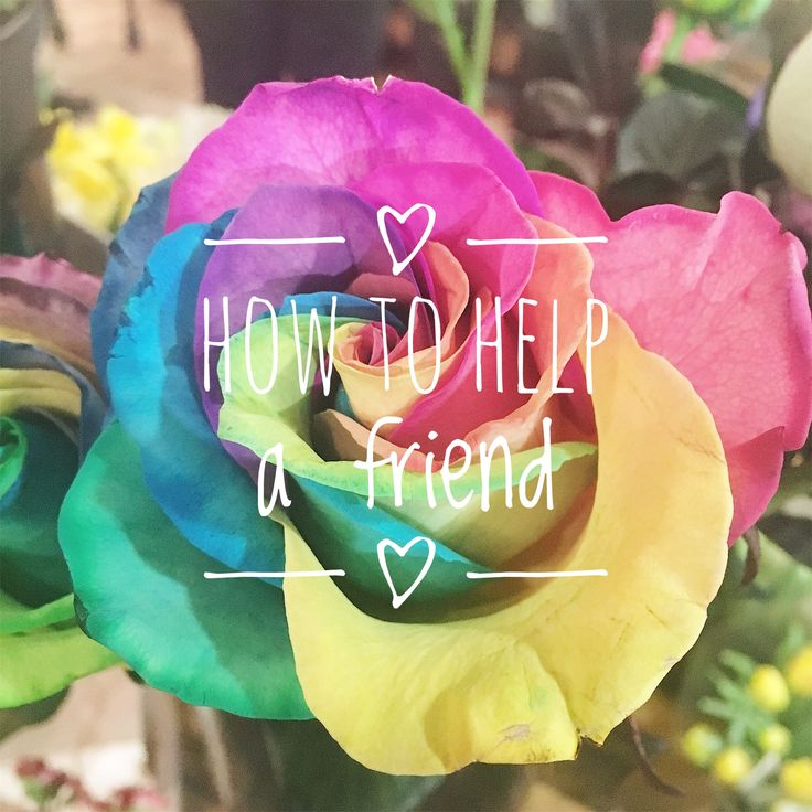 How to Help A Friend – The Antisocial Blonde