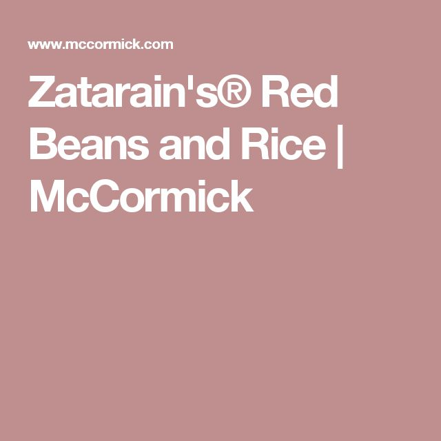 Zatarain's® Red Beans and Rice | McCormick